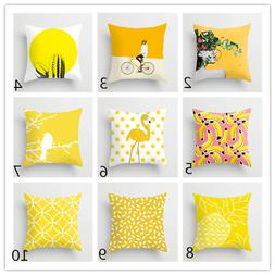 Plant printing throw pillow covers for sofa seat lumbar pill