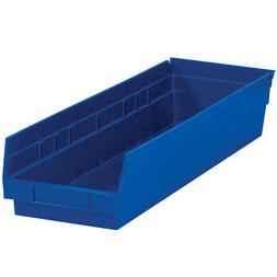 "Box Partners Plastic Shelf Bin Boxes 23 5/8"" x 6 5/8"" x 4"" B"