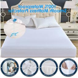 Premium Bamboo Mattress Protector Topper Bed Cover Pad Water