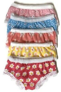 Print Panties-5 pack for 18 inch American Girl Doll Clothes