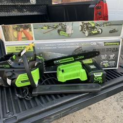 Greenworks PRO 80V 18-Inch Cordless Chainsaw with Battery &