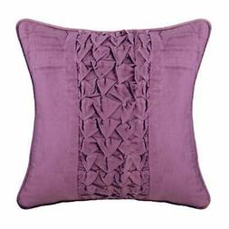 Purple 18x18 inch Decorative Pillow Cover, Velvet Knots Chec