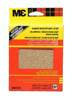 3M  All Purpose Palm Sandpaper Sheets 9225NA, 4.5 in x 5.5 i