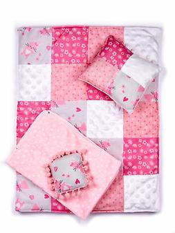 Quilt - 4 Piece 18 inch Doll Bedding Set - Fits American Gir