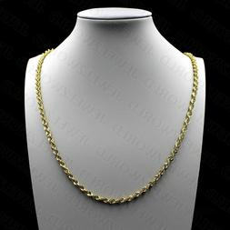 REAL 10K Solid Yellow Gold Necklace Gold Rope Chain 2mm, 2.5