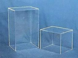 Rectangular Acrylic Display Cube - Clear, 18 Inch