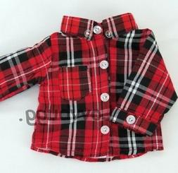Red Black Plaid Shirt for 18 inch Doll Clothes American Girl