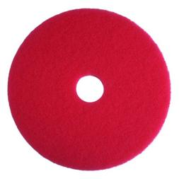 "3M Red Buffer Pad 5100, 18"" Floor Buffer, Machine Use"
