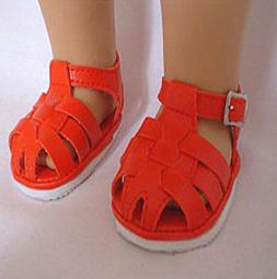 Red Fisherman Sandals Fits 18 inch American Girl Dolls