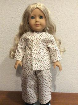 Red Floral PJ's for 18 Inch American Girl Doll FREE SHIPPING