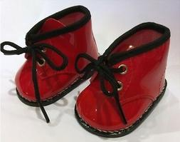Red Patent Docs Rain Boots for 15 18 inch Doll Shoes America