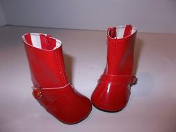 Red Rain Boot Shoes made for 18 inch American Girl Doll Clot
