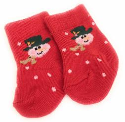 Red Snowman Knit Sport Socks made for 18 inch American Girl
