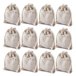MIAOMIAO  reusable cotton double drawstring Bags, Machine Wa