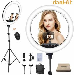 Ring Light with Stand, 18 Inch 3 Color Mode 3200k-6000k Colo