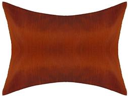 Rust PillowCase Lumbar Toddler Pillow Cover 12x18 inch  Poly