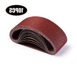 Sanding Belt 3-Inch x 18-Inch, TACKLIFE 10Pack  Aluminum Oxi