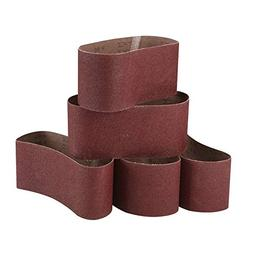 Zivisk 3 Inch X 18 Inch Sanding Belts, 60/80/100/120/240 Gri