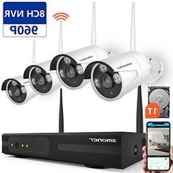 Wireless Security Camera System,SMONET 8CH 960P Video Secur