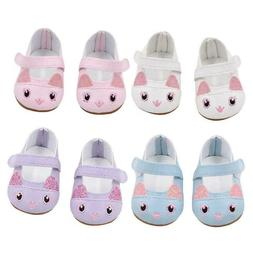 set of 4 kitten doll shoes fits