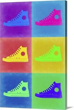 Shoe Pop Art II Canvas Wall Art Print,  Home Decor