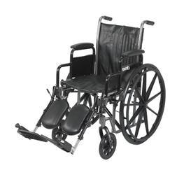 "Silver Sport 2 Wheelchair 18""/Elevating Leg Rest/Detachable"