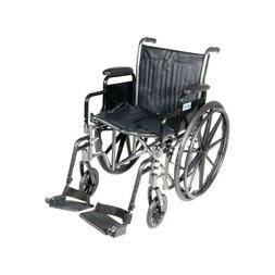 Silver Sport 2 Wheelchair with Detachable Desk Arms and Foot