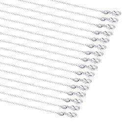 Outus 24 Pack Silver Plated Chain Necklace Link Cable Chain