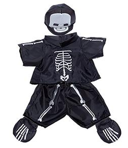 """Skeleton Costume Outfit Teddy Bear Clothes Fit 14"""" - 18"""" Bui"""