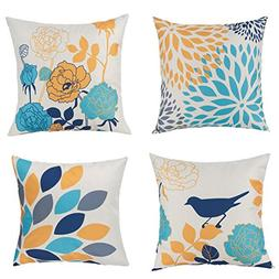 Unique Warm Outdoor Sofa Home Pillow Covers Floral Cartoon S