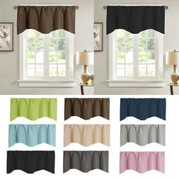Solid Color Cafe Short Window Curtain Drape Panel Valance De