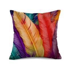 Square Throw Pillow Case Pillow Waist Cushion Cover Home Sof