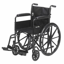 Drive Medical SSP118FA-SF Silver Sport 1 Wheelchair with Ful