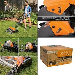 """Fiskars 18"""" Stay Sharp Human Powered Reel Mower Grass Cutter"""