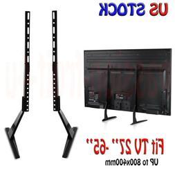 """Tabletop TV Stand Base VESA 800x400 Pededtal Mount TV 27"""" 32"""