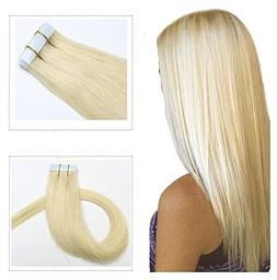 Mario Hair Tape in Human Hair Extensions Silky Straight Skin
