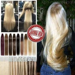 Tape in Glue Hair Extensions Real 100% Remy Human Hair Thick