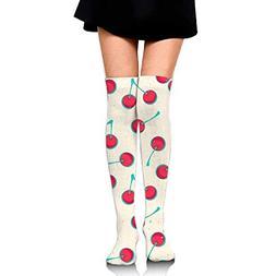 Thigh high socks Women Thigh High Over Knee Cherry Long Tube