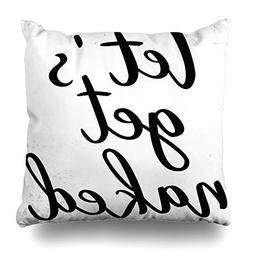 """AlliuCoo Throw Pillow Covers Square Size 18""""x18"""" Lettering A"""