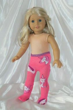 Tights fits 18 inch American Girl Doll Clothes Unicorn