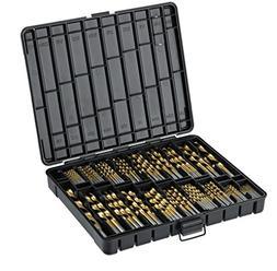 Titanium Drill Bit Set for Metal - 230pc Kit - Coated HSS -