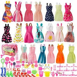 SUNLALA Total 80pcs - 20Pack Clothes Party Gown Outfits for