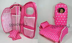 """Travel Carrying Case Bed for American Girl 14 - 18"""" 18 inch"""