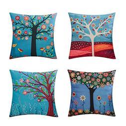 Heyhousenny Tree Decorative Throw Pillow Case Cushion Cover