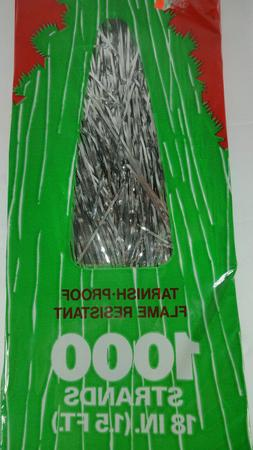 tree tinsel 1000 18 inch strands vintage NEW in box -made in