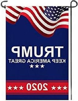 Trump 2020 KEEP AMERICA GREAT Garden Flags- Double Sided Yar