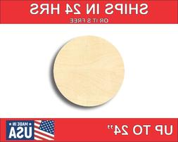 "Unfinished Wood Circle Shape - Craft - up to 24""  DIY"
