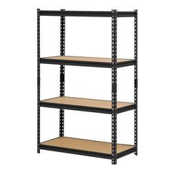 Edsal UR364AZ-BLK Steel Storage Rack, 4 Adjustable Shelves W