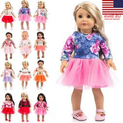 US Cute Clothes Dress 18Inch Accessory Girl Toy Doll Accesso