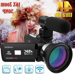 "Ultra HD 4K 3 "" LCD TOUCHSCREEN WIFI DIGITAL VIDEO CAMERA DV"